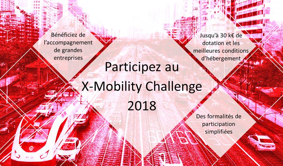 Visuel pour le concours X-Mobility 2018.