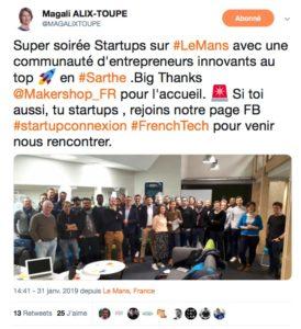 Nouvelle communauté de Start UPs en Sarthe