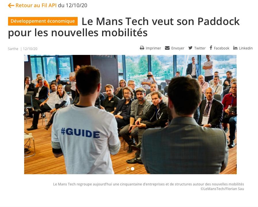 Nom de code «PADDOCK», future usine partagée sur LE MANS